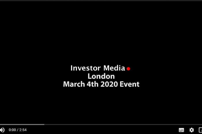 Investor Media Events – London 4th March 2020